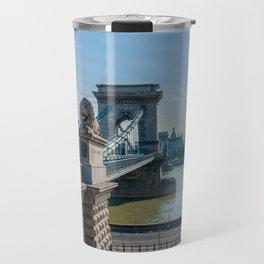 Szechenyi Chain Bridge in Budapest Travel Mug