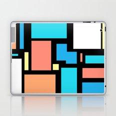 Modern Mondrian (black) Laptop & iPad Skin