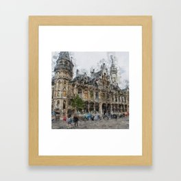 Antwerpen 2 Painted Framed Art Print