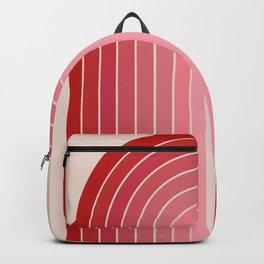 Gradient Arch - Pink / Red Tones Backpack