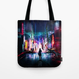 Tokyo Cyberpunk Japan Tote Bag