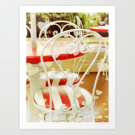 Red Heart Cafe Art Print