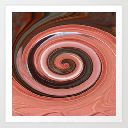 Swirl 01- Colors of Rust / RostArt Art Print