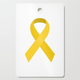 Yellow Awareness Support Ribbon Cutting Board