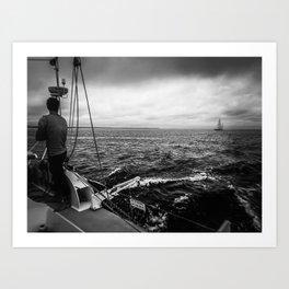 Stormy Sailing on Chappy Art Print
