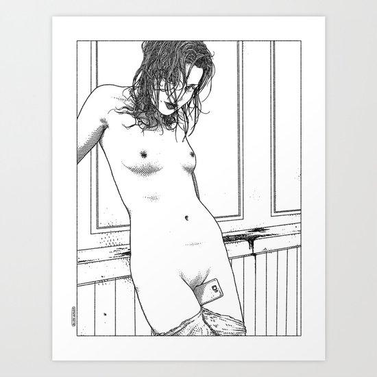 asc 595 - Les amatrices II (Sketchwork) Art Print
