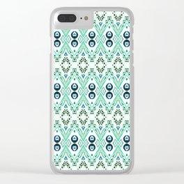 Ikat Java Mint Mini Clear iPhone Case
