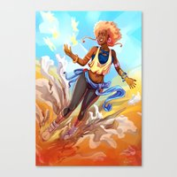 always sunny Canvas Prints featuring Always Sunny by Art of Golden Muse