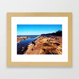 Perspective Rocks Framed Art Print