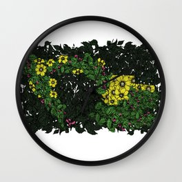 Flowers Excavator Wall Clock