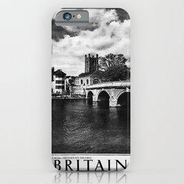 retro noir et blanc Britain iPhone Case