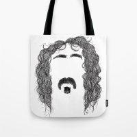 zappa Tote Bags featuring Frank Zappa by Sára Szabó