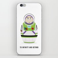 buzz lightyear iPhone & iPod Skins featuring Buzz lightyear russian doll by vickymcfarlane