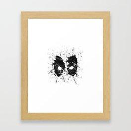 Dead Pool Eyes Splash Framed Art Print