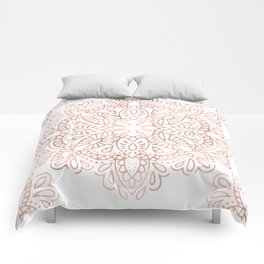 Mandala Rose Gold Pink Shimmer by Nature Magick Comforters