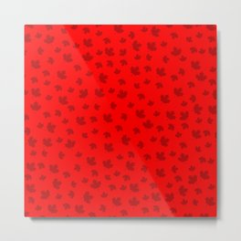 Canada Maple Leaf-Red Metal Print