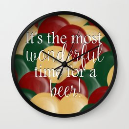 It's The Most Wonderful Time For A Beer Wall Clock