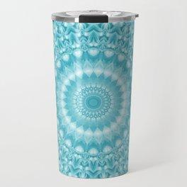 Caribbean Blue Mandala Travel Mug