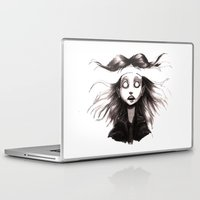 anxiety Laptop & iPad Skins featuring Anxiety by Lauren Addy