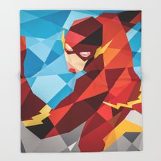 DC Comics Flash Throw Blanket