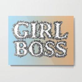 girl boss Metal Print