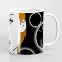 lydia martin Mugs featuring Lydia Martin by reliand