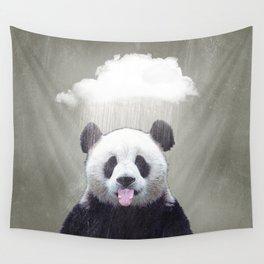 Panda Rain Wall Tapestry