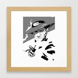 nick valentine — got a light? Framed Art Print