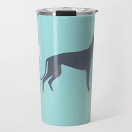 Greyhound farting dog cute funny dog gifts pure breed dogs Travel Mug