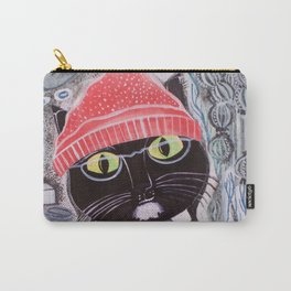 Mittens Ponders the Fibonacci Sequence Carry-All Pouch