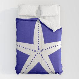 Starfish (White & Navy Blue) Comforters
