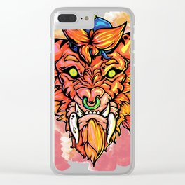 tiger saber tooth Clear iPhone Case