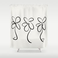 three of the possessed Shower Curtains featuring Three  by kelly*n photography