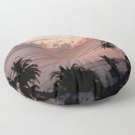Sunset on the beach Floor Pillow