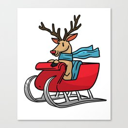 Sled snowmobile gift snow Christmas Canvas Print