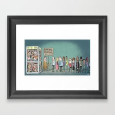 The Eternal Quest For Personal Space Framed Art Print