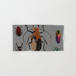 NATURE LOVERS BEETLE BUG COLLECTION ART Hand & Bath Towel