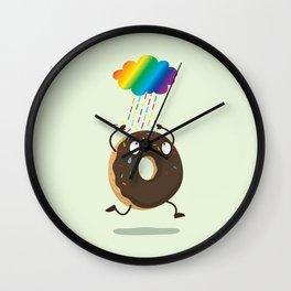 Rainbow sugar rain Wall Clock