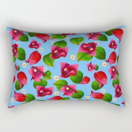 Bougainvilleas on a Sunny Day Rectangular Pillow