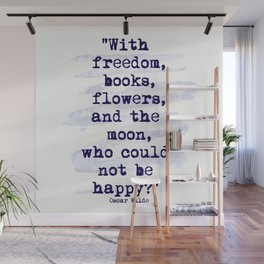 Freedom Books Flowers Happiness Wall Mural