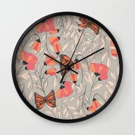 Monarch garden 001 Wall Clock