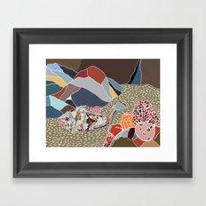rockfish in situ Framed Art Print
