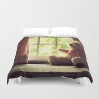 teddy bear Duvet Covers featuring Teddy Bear by MariBee
