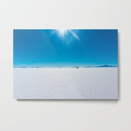 Jeep on the Salary de Uyuni, Salt Flats, Bolivia Metal Print