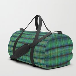 Forest Straw Plaid On Frozen Lake Duffle Bag