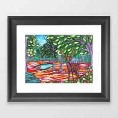 Deer Haven Framed Art Print