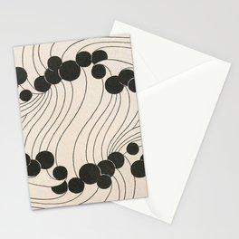 Art Nouveau Black Dots Stationery Cards