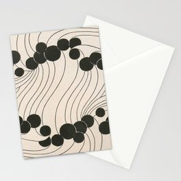 Art Nouveau Black Dots Stationery Cards