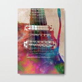Guitar art 12 #guitar #music Metal Print