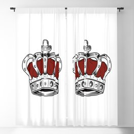 Crown - Red Blackout Curtain